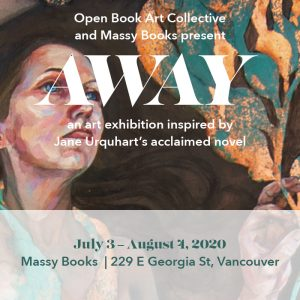 Away Open Book Art Collective Exhibition poster