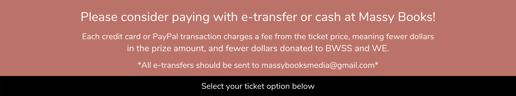 Please consider paying with E-transfer