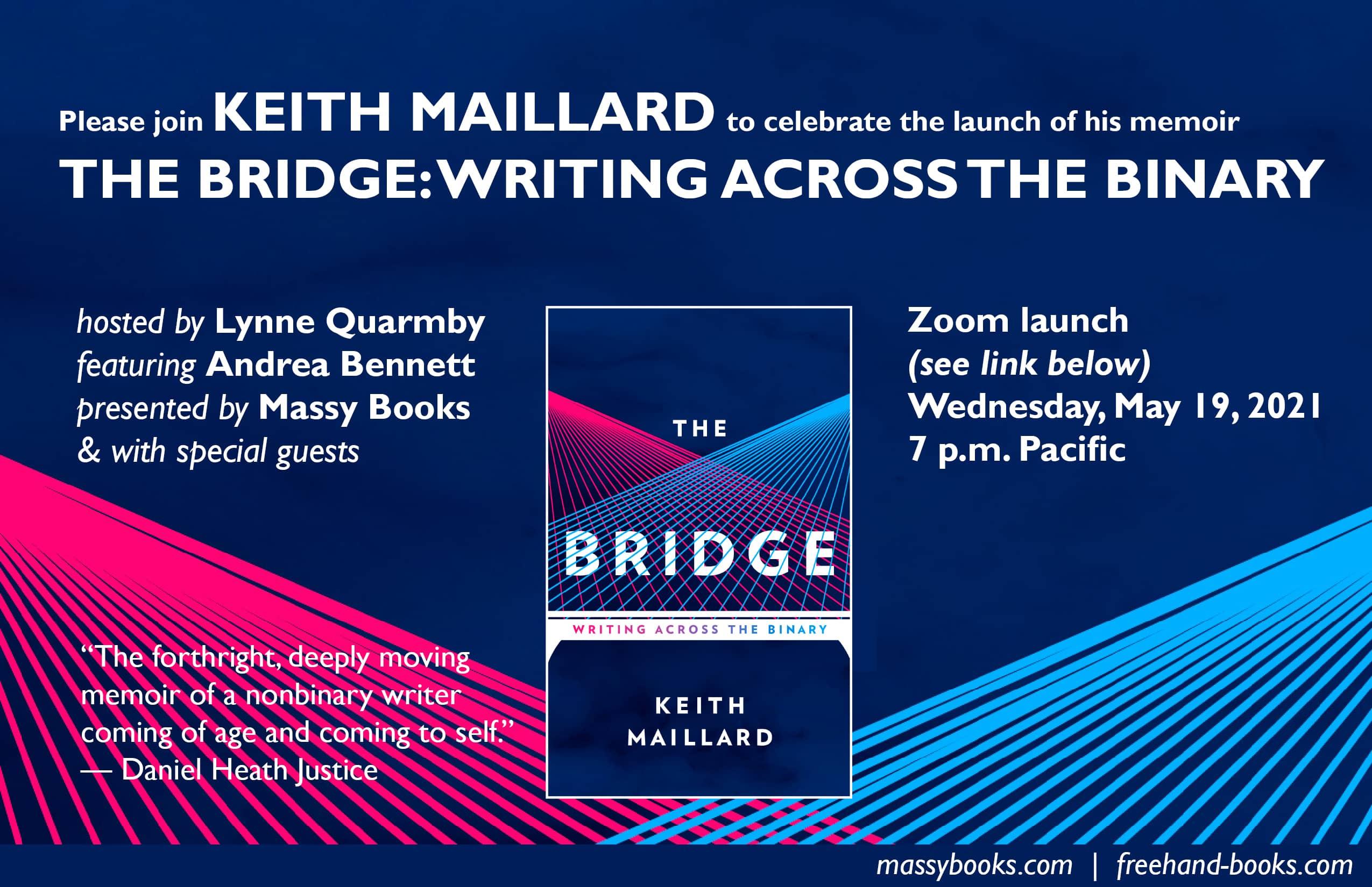 Keith Maillard Book Launch Postcard